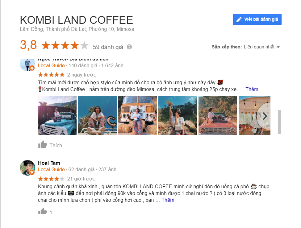 Review Kombi Land Đà Lạt