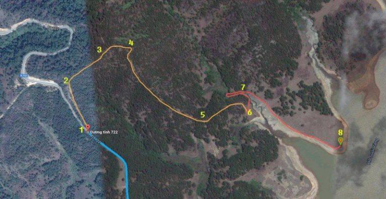 Bản đồ đến cây thông cô đơn Đà Lạt