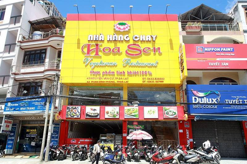 Nhà hàng chay Hoa Sen ở Đà Lạt