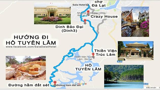 Đường đi đến Hồ Tuyền lâm