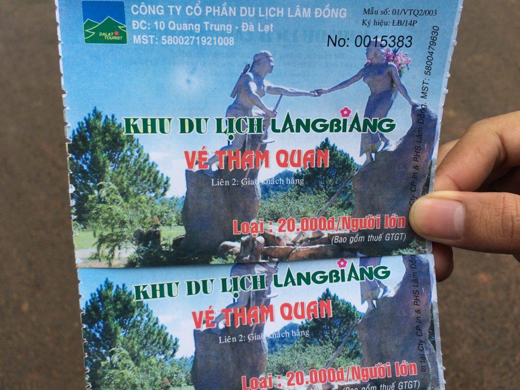 Giá vé ở Langbiang Đà Lạt