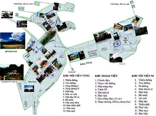 Bản đồ khu vực Thiền Viện Trúc Lâm